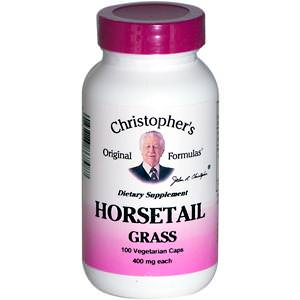 Christopher's Original Formulas, Horsetail Grass, 100 Veggie Caps