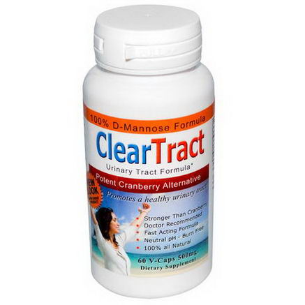 ClearTract, Urinary Tract Formula, Potent Cranberry Alternative, 500mg, 60 VCaps
