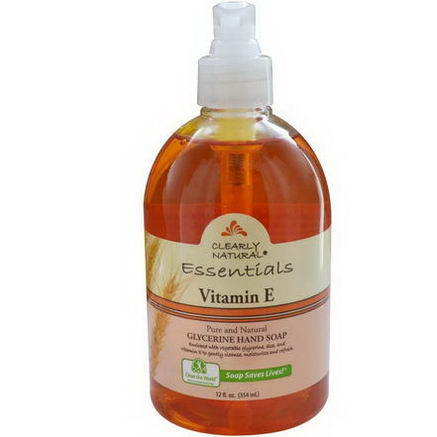 Clearly Natural, Essentials, Glycerine Hand Soap, Vitamin E, 12 fl oz (354 ml)