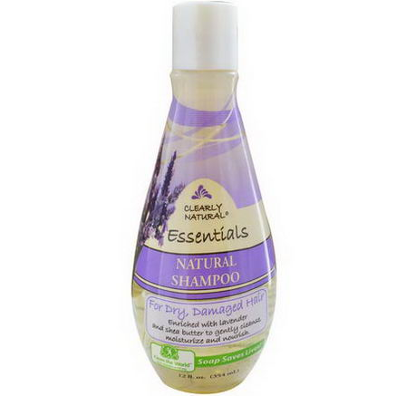 Clearly Natural, Essentials, Natural Shampoo, For Dry, Damaged Hair, 12 fl oz (354 ml)