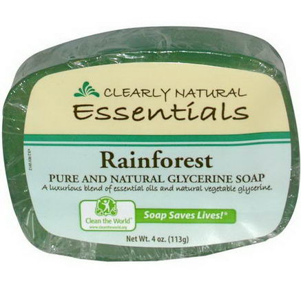 Clearly Natural, Essentials, Pure and Natural Glycerine Soap, Rainforest, 4oz (113g)