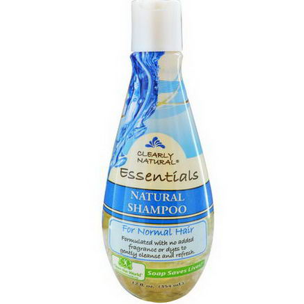 Clearly Natural, Natural Shampoo for Normal Hair, 12 fl oz (354 ml)
