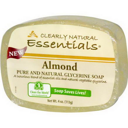 Clearly Natural, Pure and Natural Glycerine Soap, Almond, 4oz (113g)