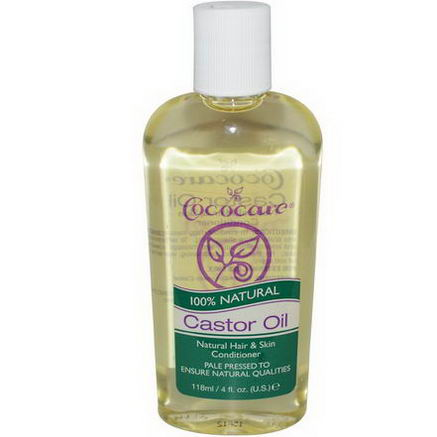 Cococare, 100% Natural Castor Oil, 4 fl oz (118 ml)