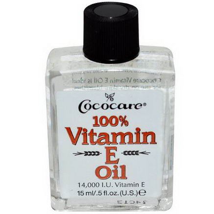 Cococare, 100% Vitamin E Oil, 5 fl oz (15 ml)