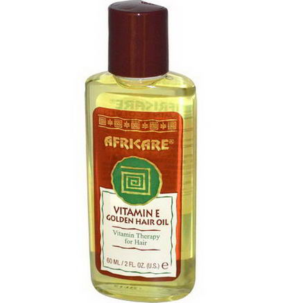 Cococare, Africare, Vitamin E Golden Hair Oil, 2 fl oz (60 ml)