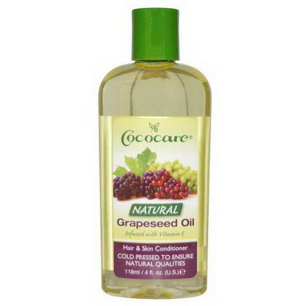 Cococare, Hair & Skin Conditioner, Natural Grapeseed Oil, 4 fl oz (118 ml)