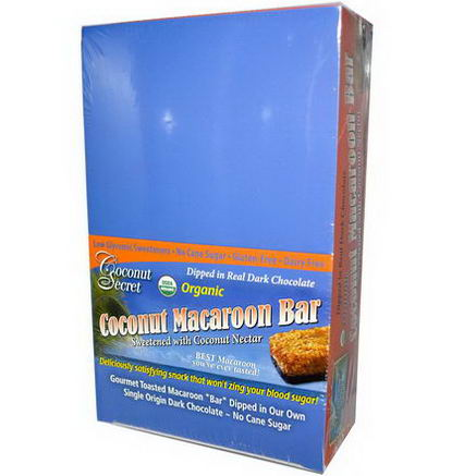 Coconut Secret, Organic, Coconut Macaroon Bar, 12 Bars, 1.75oz (50g) Each