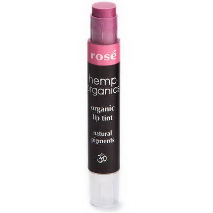 Colorganics Inc. Hemp Organics, Organic Lip Tint, Rose, 09oz (2.5g)