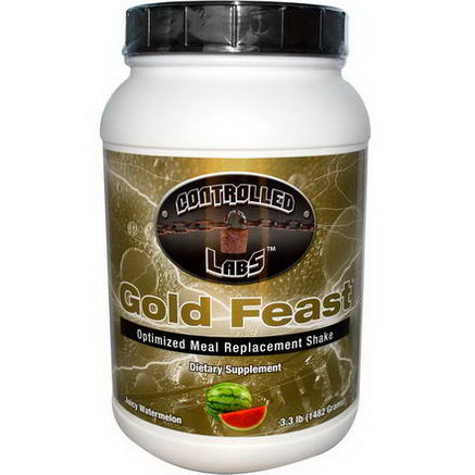 Controlled Labs, Gold Feast, Optimized Meal Replacement Shake, Juicy Watermelon, 3.3 lbs (1482g)