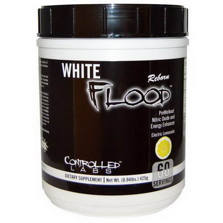 Controlled Labs, White Flood Reborn, Electric Lemonade, 0.94 lbs (425g)