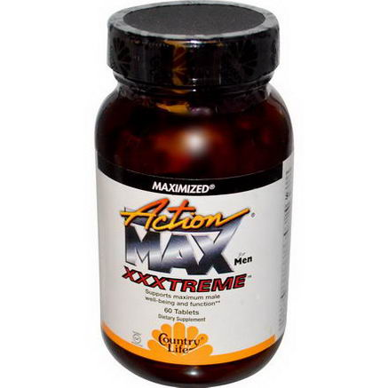 Country Life, Gluten Free, Action Max Xxxtreme, for Men, 60 Tablets