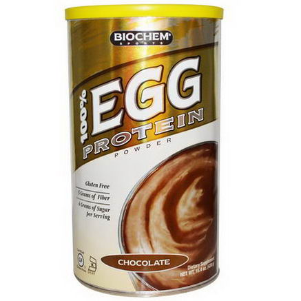 Country Life, Gluten Free, BioChem Sports, 100% Egg Protein Powder, Chocolate, 15.4oz (438g)