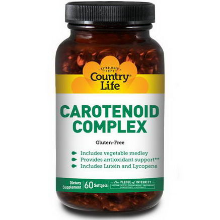 Country Life, Gluten Free, Carotenoid Complex, 60 Softgels