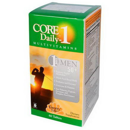 Country Life, Gluten Free, Core Daily-1, Multivitamins, Men 50+, 60 Tablets