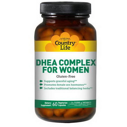 Country Life, Gluten Free, DHEA Complex, For Women, 60 Veggie Caps
