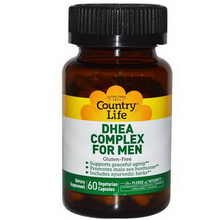 Country Life, Gluten Free, DHEA Complex for Men, 60 Veggie Caps
