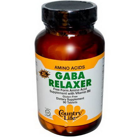 Country Life, Gluten Free, GABA Relaxer, Rapid Release, 90 Tablets