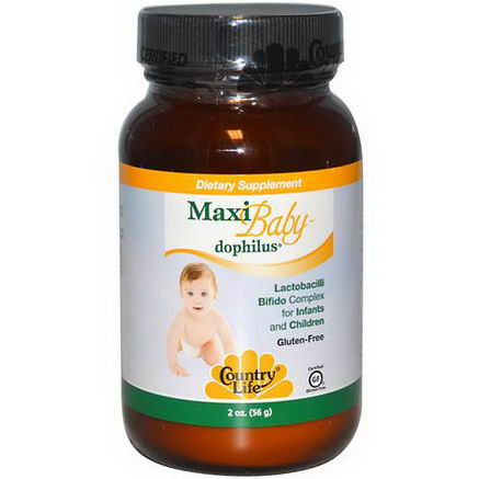 Country Life, Gluten Free, Maxi Baby-Dophilus, Powder, 2oz (56g)