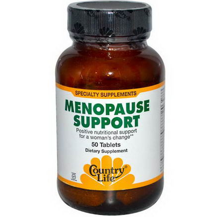 Country Life, Gluten Free, Menopause Support, 50 Tablets