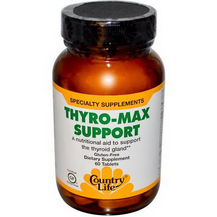 Country Life, Gluten Free, Thyro-Max Support, 60 Tablets