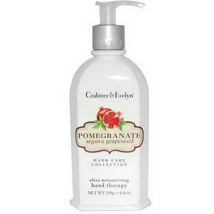 Crabtree & Evelyn, Hand Therapy, Ultra Moisturizing, Pomegranate Argan & Grapeseed, 8.8oz (250g)