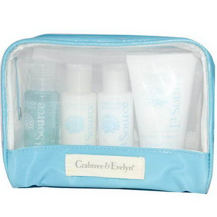 Crabtree & Evelyn, La Source, Travel Set, 4 Piece Kit, 1.7 fl oz (50 ml) Each