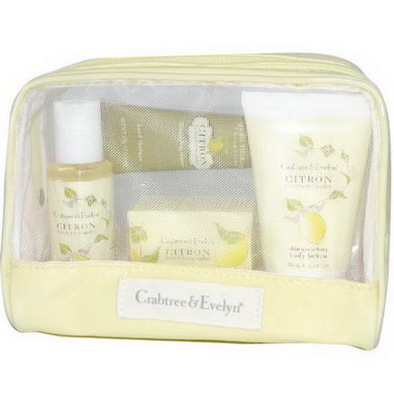 Crabtree & Evelyn, Traveler, Citron, 4 Piece Kit