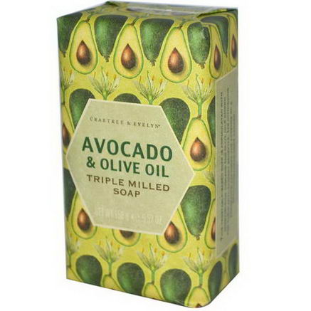 Crabtree & Evelyn, Triple Milled Soap, Avocado & Olive Oil, 5.57oz (158g)