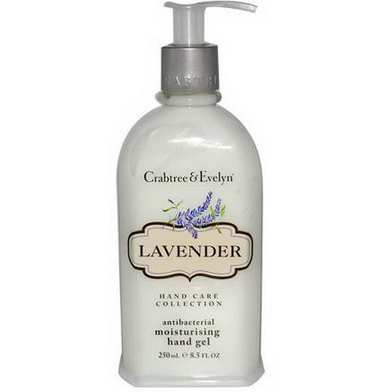 Crabtree & Evelyn, Antibacterial Moisturizing Hand Gel, Lavender, 8.5 fl oz (250 ml)