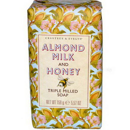 Crabtree & Evelyn, Triple Milled Soap, Almond Milk and Honey, 5.57oz (158g)