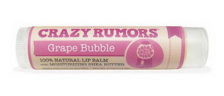 Crazy Rumors, Gumball, Lip Balm, Grape Bubble, 0.15oz (4.2g)
