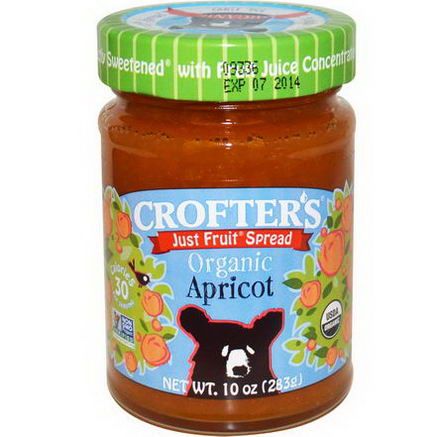 Crofter's Organic, Just Fruit Spread, Apricot, 10oz (283g)