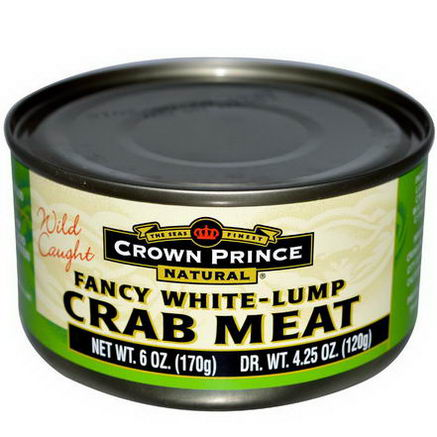 Crown Prince Natural, Fancy White-Lump Crab Meat, 6oz (170g)