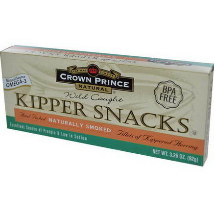 Crown Prince Natural, Kipper Snacks, Naturally Smoked, 3.25oz (92g)