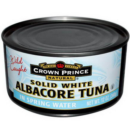 Crown Prince Natural, Solid White Albacore Tuna, In Spring Water, 12oz (340g)