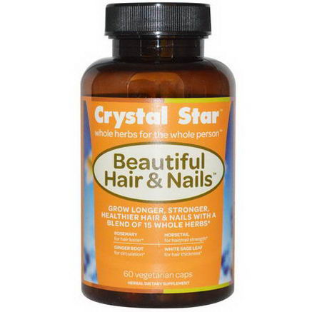 Crystal Star, Beautiful Hair & Nails, 60 Veggie Caps