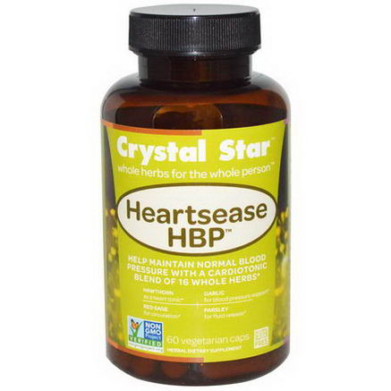 Crystal Star, Heartsease HBP, 60 Veggie Caps