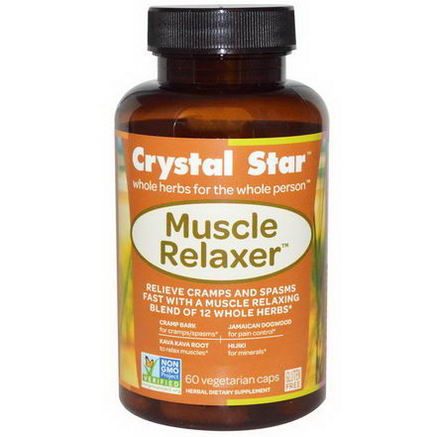 Crystal Star, Muscle Relaxer, 60 Veggie Caps