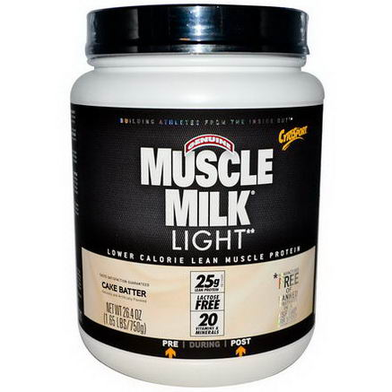 Cytosport, Inc, Genuine Muscle Milk Light, Lower Calorie Lean Muscle Protein, Cake Batter, 26.4oz (750g)