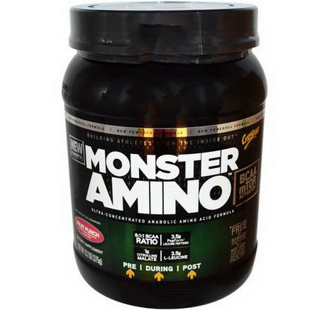 Cytosport, Inc, Monster Amino, Sugar Free, Fruit Punch, 13.2oz (375g)