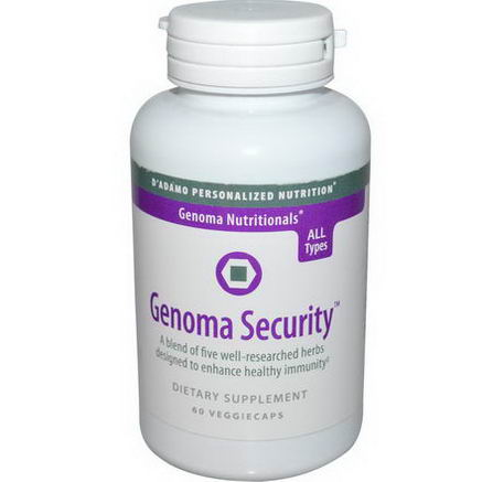 D'adamo, Genoma Nutritionals, Genoma Security, 60 Veggie Caps