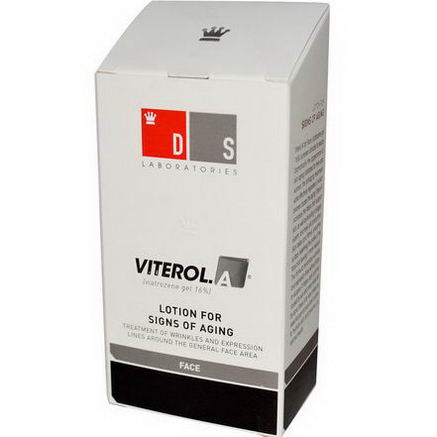 DS Laboratories, Viterol. A (Viatrozene Gel 16%), Lotion for Signs of Aging, Face, 1oz (30 ml)