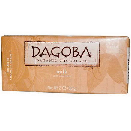 Dagoba Organic Chocolate, Milk Chocolate, 2oz (56g)