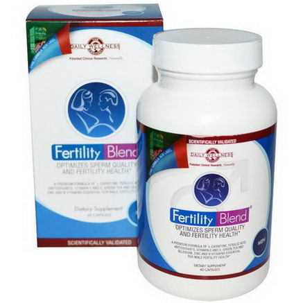 Daily Wellness Company, Fertility Blend for Men, 60 Capsules
