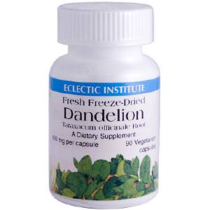 Eclectic Institute, Dandelion, 400mg, 90 Veggie Caps