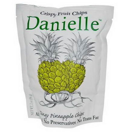 Danielle Chips, Crispy Fruit Chips, Tangy Pineapple, 2oz (56g)