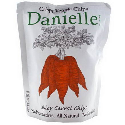Danielle Chips, Crispy Veggie Chips, Spicy Carrot, 2oz (56g)