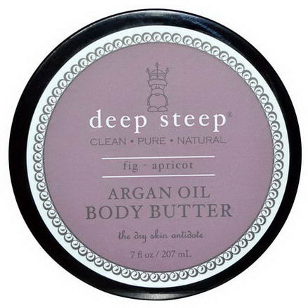 Deep Steep, Argan Oil Body Butter, Fig - Apricot, 7 fl oz (207 ml)