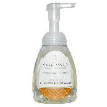 Deep Steep, Argan Oil Foaming Hand Wash, Brown Sugar - Vanilla, 8 fl oz (237 ml)